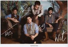 MUMFORD & SONS AUTOGRAPHED SIGNED A4 PP POSTER PHOTO