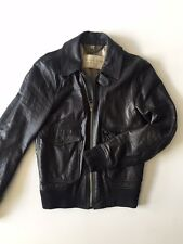 Burberry Brit Slimfit Black Leather Bomber Jacket