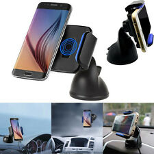 360° Qi Wireless Car Charger Transmitter Holder For Samsung Galaxy S7 S6 Note 5