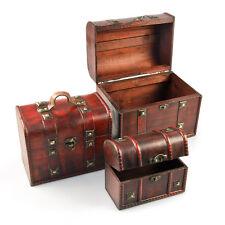 Truhen Schatzkisten Boxen Aufbewahrung Schmuckkästchen 3-teilig lackiertes Holz