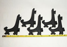DINO: 5  Black Acrylic Plastic Easel Display Stands for Slabs! - Good Ones!