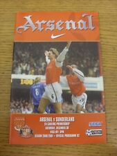 30/12/2000 Arsenal v Sunderland  . Item appears to be in good condition unless p