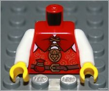 Lego Castle x1 Red White Torso Vest Coin Sack Belt Prince King Minifigure NEW