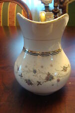 KRISTER PORCELAIN FACTORY pitcher, Germany, c1885, white, black and gold