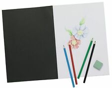 Slim A4 Artists Sketchbook 20 Sheets Acid Free Cartridge Paper / Soft Card Cover