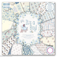 DOVECRAFT Paper 8x8 FULL PACK FIRST EDITION It's A Boy Scrapbooking