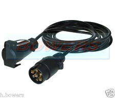 6 METER TRAILER LIGHT BOARD 12N 7PIN PLUG & SOCKET EXTENSION CABLE LEAD 6M