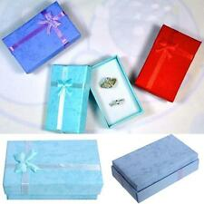 5pcs Paper Cardboard Ring Necklace Earring Jewelry Gift Boxes Display Package WC