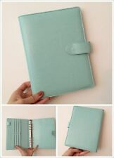 light green mint planner organizer A5 large desk size PU leather NEW 6ring