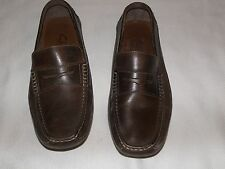 MENS CLARKS ENGLAND BROWN LEATHER LOAFER SIZE 7 1/2 M