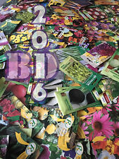 A LOT OF MYSTERY SEEDS - MIXED FLOWERS & VEGETABLES - 7 PACKETS - HAPPY GARDEN