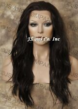 HEAT SAFE Lace Front WAVY LONG WIG Dark Brown Futura WBYV 4