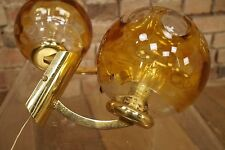 Set 2 x 70s Wall Light Space Age Design Lamp Sphere GLAS Construction camp