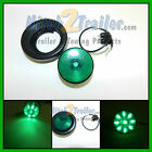 "(1) GREEN 9 LED Light Trailer 2"" round, w/plug,Grommet Clearance marker 2.0"""