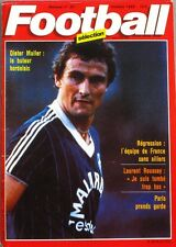 Football Sélection n°30 - 1982 - Dieter Muller - Laurent Roussey - P. Revelli