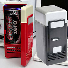 USB Fridge Drink Coke Soda Beverage Can Cooler Freezer Warmer For PC Car red