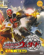 KAMEN RIDER WIZARD VOL. 1-53 END JAPANESE ANIME DVD + FREE SHIPPING