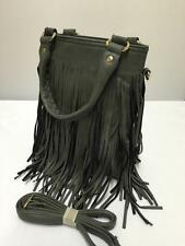 New Grey Tassel Hobo Style Ladies Twin Handle Clutch Bag Handbag /Cross Body 722