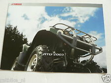 Y223-YAMAHA BROCHURE ATV MODELS 2003 DUTCH 12 PAGES KODIAK,BIG BEAR,BEARTRACKER,