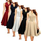 NEW VTG RETRO STYLE 40s 50s 60s Rockabilly Swing Pinup Wear to work Party Dress