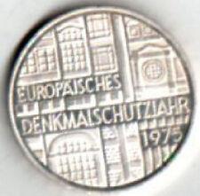 """GERMANIA 5 MARCHI""""DENKMALSCHUTZIAHR EUROPAISCHES""""1975 FDC ARGENTO KM#1421  mrm"""