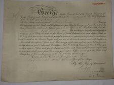 RFC/RAF Hand Signed King George V Commission Document Original WWI 1918.