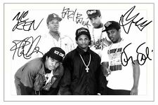 ICE CUBE & MC REN & EAZY E & YELLA & DR DRE - NWA SIGNED A4 PP POSTER PHOTO 1