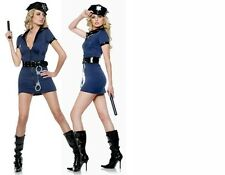 NEW WOMANS LADIES SEXY DELUXE POLICE COSTUME HEN DOO FANCY DRESS PARTY OUTFIT