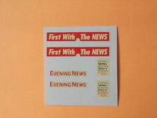 "Matchbox Lesney 1-75 Series No 42A Bedford ""Evening News"" Van Transfers/Decals"
