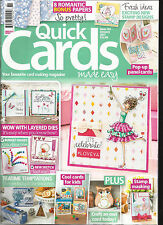 QUICK CARDS MADE EASY, JANUARY, 2017 ( YOUR FAVOURITE CARD MAKING MAGAZINE )