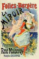 A4 photo CHERET Jules les affiches illustrees 1896 le miroir imprimé Poster