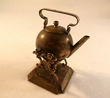 Antique Dutch 833 Sterling Miniature Kettle on Stand