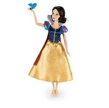Disney Store Princess Snow White Classic Doll w/ Bluebird Poseable Figure 12""