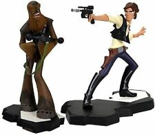 STAR WARS~HAN SOLO & CHEWBACCA~ANIMATED MAQUETTES~LE 3000~GENTLE GIANT~MIB