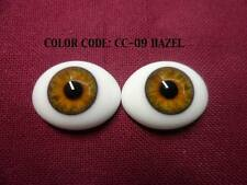 Pabol 22 MM pabol Glass Eyes Hazel Oval Flatback for reborns