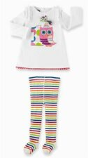 MUD PIE I'M 1 OWL  BABY GIRLS BIRTHDAY SET: TUNIC AND TIGHTS