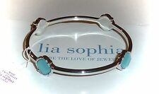 "NWT/NIB - LIA SOPHIA ""DRAMATIQUE"" BANGLE BRACELET - SILVER/BLUE - M - 2014/$38"