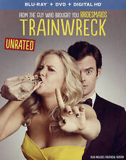 NEW SEALED - Trainwreck: Unrated - Blu-Ray + DVD + Digital HD - w/Deleted Scenes