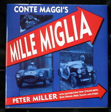 SIGNED Peter Miller-Conte Maggi's Mille Miglia 1st U.S. Edition VG+ VG+