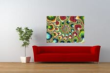 PAINTING  FRACTAL PATTERN TRIPPY PSYCHEDELIC GIANT ART PRINT POSTER NOR0824