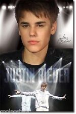 JUSTIN BIEBER ON STAGE IN WHITE TUXEDO POSTER 22x34 NEW FREE SHIPPING