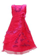 New Girls Formal Wedding Bridesmaid Party Flower Dress Size Age 2 - 12 A016