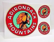 Adirondack Mountains Vintage Style Travel Decals / Vinyl Stickers, Luggage Label