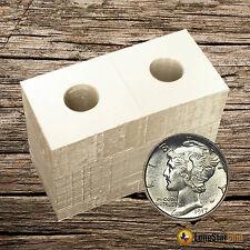 25 2x2 DIME Mylar Cardboard Coin Holder Flips - Coin Supplies