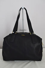 Fossil $379 Preston Satchel Black Pebbled Leather Large BNWT