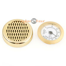 GOLD Color Smoking Tobacco Hygrometer + Round Humidifier for Cigar Humidor