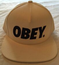 "Authentic 100% Cotton ""OBEY"" adjustable snapback. Excellent used condition."