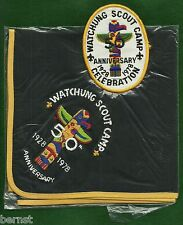 BOY SCOUT NECKERCHIEF & PATCH - 1978 WATCHUNG SCOUT CAMP - FREE SHIPPING  XX
