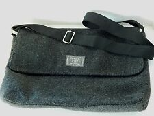 Lucky Brand Charcoal Gray Wool Messenger Bag Lucky You School Travel NWOT