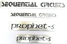 Sequential Circuits prophet-5 Aluminum Sticker Logo Badge Set of 4 Top-Quality!